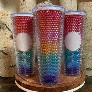Starbucks Rainbow Studded Venti Rainbow Tumbler